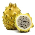 Pitihaya is a fruit that grows on cacti. It is sweet, mild, juicy and delicious!! You peel the outer skin off and eat the inside. Depending upon the size and the time of year, they can sell anywhere from .50 cents a piece to $1.50 a piece. Expensive but so delicious!